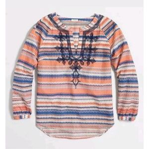 J. Crew Factory Boho Tribal Embroidered Tunic